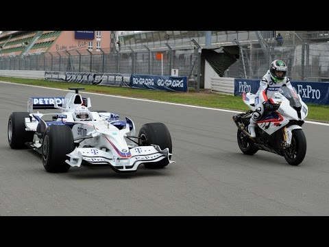 F1 Car vs Bike: BMW Sauber F1 vs BMW S 1000 RR