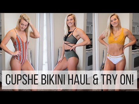 AFFORDABLE BIKINI HAUL! | CUPSHE SPRING BREAK SWIMSUITS!