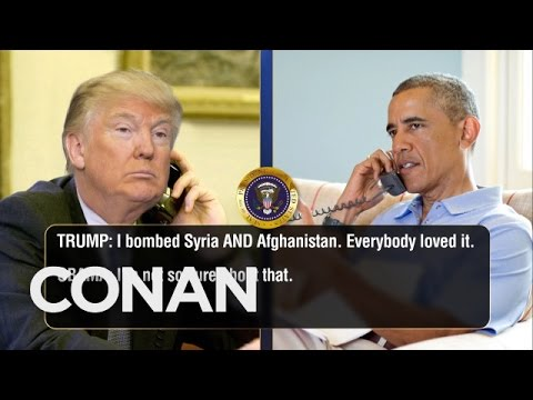 Trump Calls Obama To Talk About Syria & Afghanistan  – CONAN on TBS