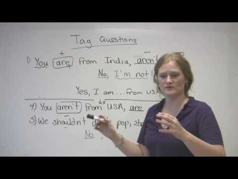 English Grammar – Tag Questions