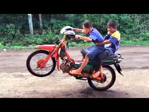 THIS KID HAS BETTER RIDING SKILLS than most of… YOU  !!! :-)