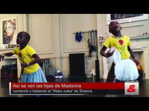 Así se ven las hijas de Madonna cantando y bailando el 'Waka waka' de Shakira